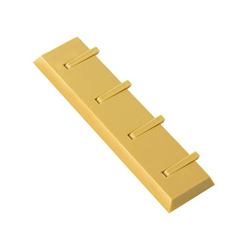 MIGUOR Ganchos Percheros amarillo Gancho para pasta sin perforaciones para dormitorio baño oficina 21×5.5CM ABS