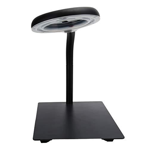 Lente óptica lupa ajustable lámpara de mesa lupa luz baja luminosa decaimiento lupa luz de lectura 40LED lupa flexible luz(European standard 110-220V)