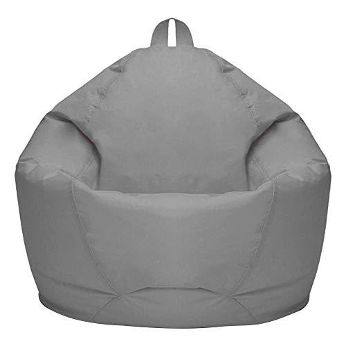 Lazy Lounger Oxford Tessuto per interni senza riempimento, per soggiorno, divano, divano, stile nordico, colore grigio chiaro, circa 70 x 80 cm