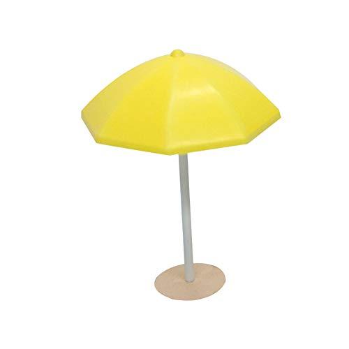 CAheadY 1 Stück Holz Sonne Sonnenschirm Modell DIY Miniatur Landschaft Bonsai Ornament Yellow