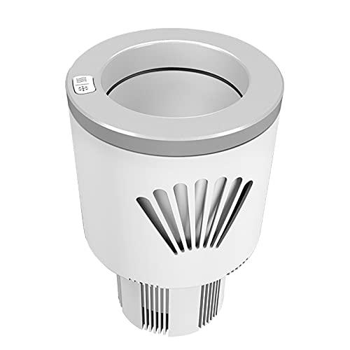 Yclty Copa de Coche 2-en-1 Taza de Café Más Fría del Calentador Sostenedor de Bebidas Mini Refrigerador de Automóvil para Viajero/Viajero/Excursionista/Recreación (5 ℃ - 80 ℃)