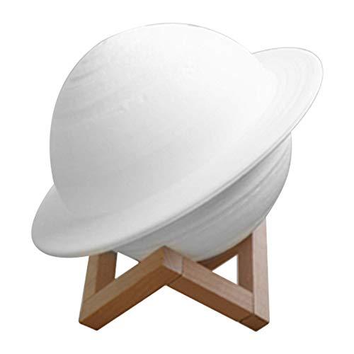 MCTY Saturn Planet Lampe, 3D-Druck, 16 Farben, Lichter mit Ständer, Touch-Steuerung und USB wiederaufladbares tragbares Nachtlicht für Heimdekoration und Geschenke für Kinder, Freunde, Liebhaber