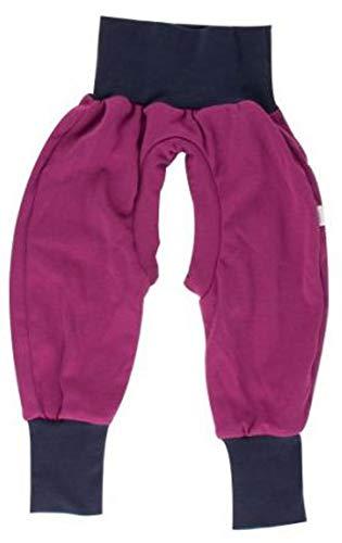 iobio™ Crawlers EasyFree™ Splitpants - Windelfrei Schlitzhose aus Bio Baumwolle für EasyFree Windel (86/92, Viola)