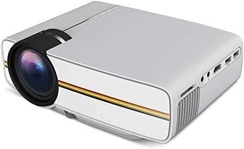YUYANDE PROYECTOR Mini, proyector de Video HD 1080P, proyector de películas portátiles LED, 1200Lumens enfocando Lentes, proyectores de Oficina y Oficina de Plata