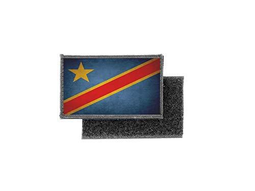 Aufnäher patch aufbügler vintage gedruckt flagge fahne kongo RDC