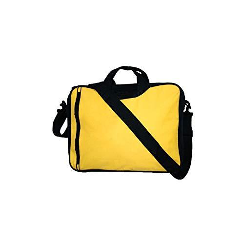 Projects Rotterdam - Borsa per computer portatile in poliestere 600D, qualità premium, tasca frontale per accessori, tracolla e maniglie, per notebook e tablet, Giallo (giallo.), 37.5 x 29 x 9 cm