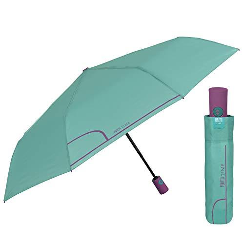Paraguas Plegable Mujer Abre y Cierra Automático de Color Sólido - Sombrilla...