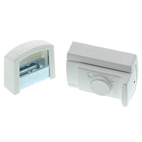 BURG-WÄCHTER Tür- und Fensterriegel, Einbruchschutz für Fenster und Türen, Beidseitig verwendbar, WinSafe WR 60, Weiß