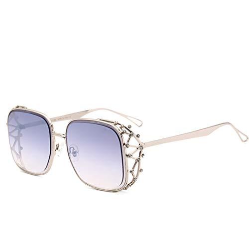XIAOTANBAIHUO Anteojos Personalidad Cristal elegante Marco completo Gafas de sol Protección UV para mujeres Hombres Gafas de sol Protección UV Gafas de seguridad (Color : Púrpura)