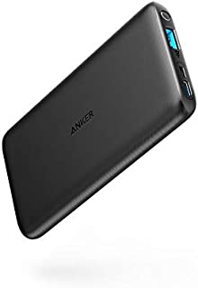 Anker PowerCore Lite 10000mAh, USB-C Input Only, High Capacity Portable Charger, Slim and Light External Battery for iPhon...