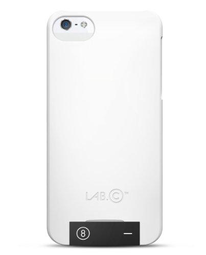 LAB.C LABC-105-WB USB Case inkl. integriertem 8GB USB für Apple iPhone 5/5S weiß/schwarz