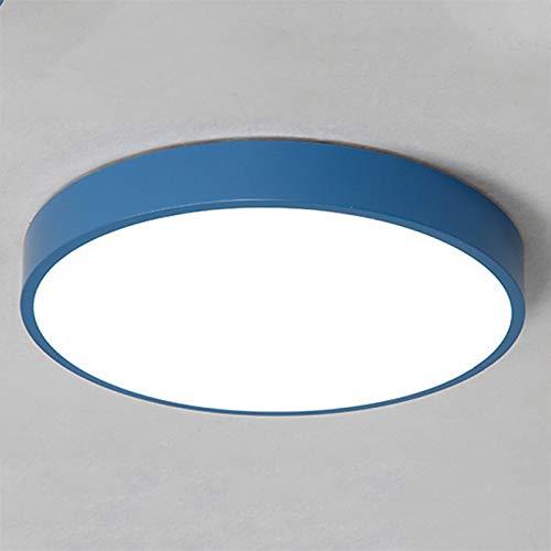 Lámpara de techo LED 18W, Plafón LED, Lámparas de techo de oficina, Luminaria LED moderna, Tres temperaturas de color, para sala de estar, cocina, comedor, pasillo