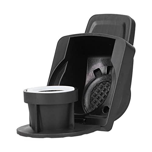 Haowecib Adattatore per Capsule di caffè, Facile da Usare in lavastoviglie Convertitore per Capsule di caffè in Acciaio Inossidabile PP+304 per la Maggior Parte delle Macchine da caffè(Black)