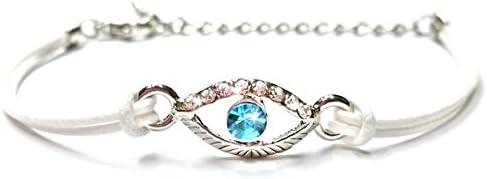 EVIL EYE White String Charm Bracelet - Fashion Charm Jewelry Bangle Cuff Wristband for