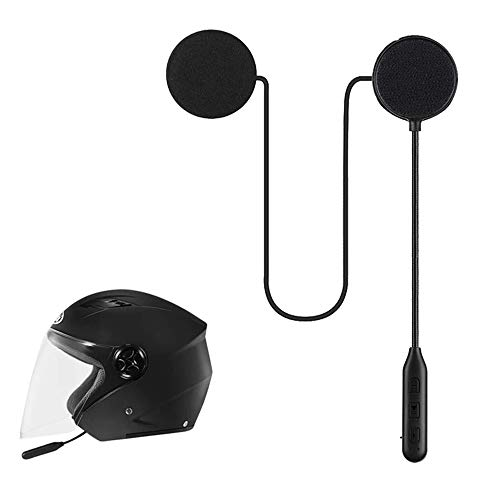 Motorcycle Bluetooth 5.0 Headphones Outdoor Helmet Earphone Bluetooth Stereo Music and Voice Microphone Soft Cable Earphone Motorcycle Helmet Intercom Headset Universal Helmet Audio System