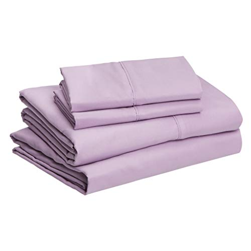 Amazon Basics Microfiber Sheet Set, Queen, Frosted Lavender