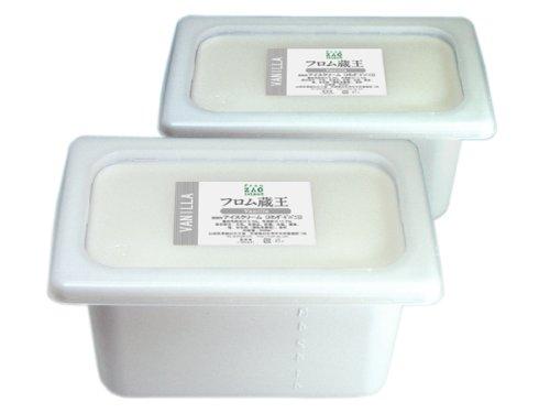 フロム蔵王【業務用】バニラアイスクリーム(4000ml)2個セット