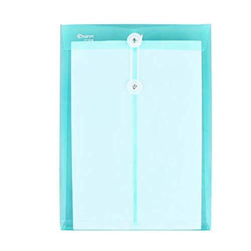 ファイルケース ロープ 縄張り縦置き 透明 撥水 クリアケース カードケース ファイル袋 ペン入れ 持ち運びに便利 12枚セット (グリーン)