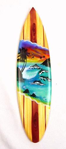 Asia Design Tabla de surf en miniatura (madera, altura de 30 cm, incluye soporte de madera)