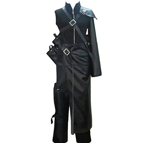 AGLAYOUPIN Adult Cloud Strife Cosplay Costume Halloween (L) Black