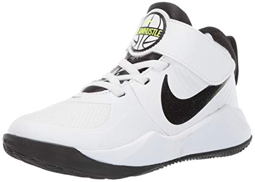 Nike Team Hustle D 9 (PS), Scarpe da Basket, Bianco (White/Black/Volt 000), Numeric_27 EU