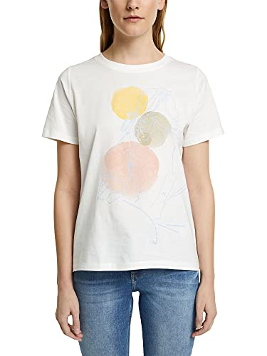 Esprit 011ee1k331 Camiseta, Blanco Crudo, M para Mujer