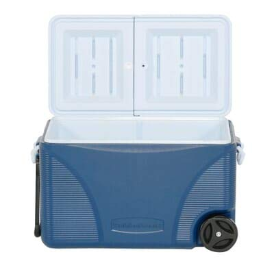 Product Image 1: Rubbermaid DuraChill Wheeled 5-Day Cooler, 75 Quarts, Blue 1836574