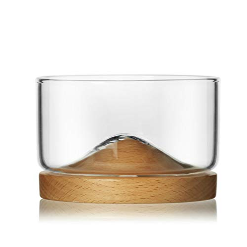 RONGXIANMA Copa de Vino Copa de Vino cristalina de Lujo discreta con la montaña de la Base de la Bandeja de la Haya