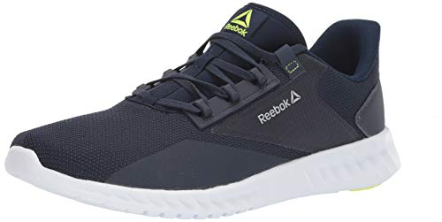 Reebok Women's Sublite Legend Running Shoe, Navy/Heritage Navy/Yellow, 13 M US
