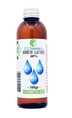 Natriumlactat 60% (Sodium lactate 60%) - 100 gr - Verwendung Bei Stückseifen hilft es, einen härteren Riegel herzustellen, der länger hält Ein großartiger Zusatz in kosmetischen Formulierungen