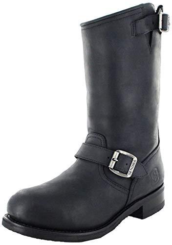 Sendra Boots Stiefel 9852 Schwarz Engineerstiefel mit Stahlkappe & Thinsulate Isolierung