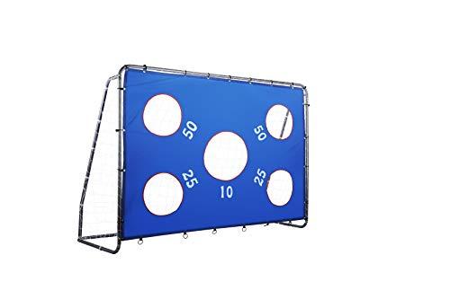 HIRAM Porta da Calcio 235 x 175cm Obiettivo di Calcio Acciaio Rivestito per Ragazzi Bambini per Allenamento Soccer Goal con Reti in Nylon