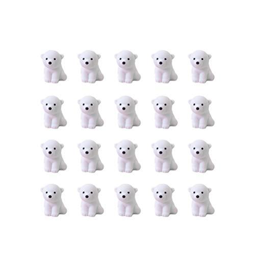 NUOBESTY - Gomas de borrar (20 unidades), diseño de oso polar