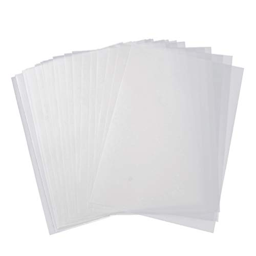 HEALLILY 50 Fogli A4 Carta da Lucido Carte da Copia Traslucide per La Copia di Schizzi E Lavori di Calligrafia