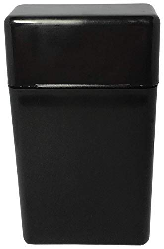King Size Black Flip Top Hinged Lid Sectioned Sections Cigarette Case