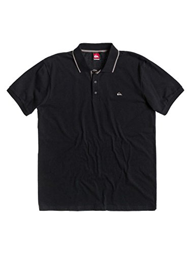 Quiksilver Herren Polo Shirt Push IT, Black, S, KTMJE052-KVK0