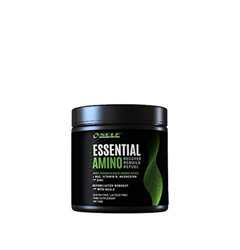 Self ESSENTIAL AMINO aminoacidi essenziali 300 tabs EAA con gruppo vitamina B, senza glutine e lattosio