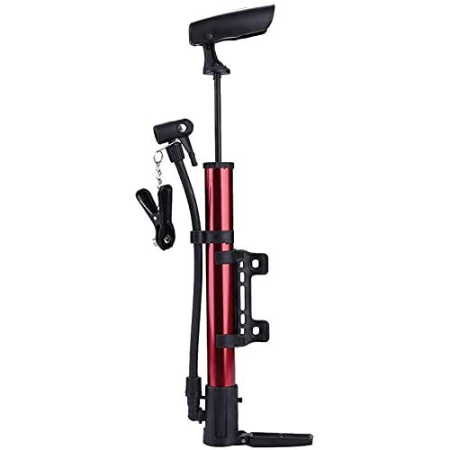 Mini bomba para bicicleta, mini bomba portátil para neumáticos de bicicleta, bomba de aire para ciclismo alta presión para bicicletas de montaña, inflado rápido y preciso, válvula Presta y Schrader