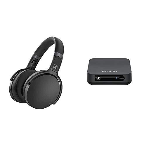 SENNHEISER HD 450BT Bk Kabelloser Over-Ear-Kopfhörer mit BT T 100 Bluetooth-Audiosender