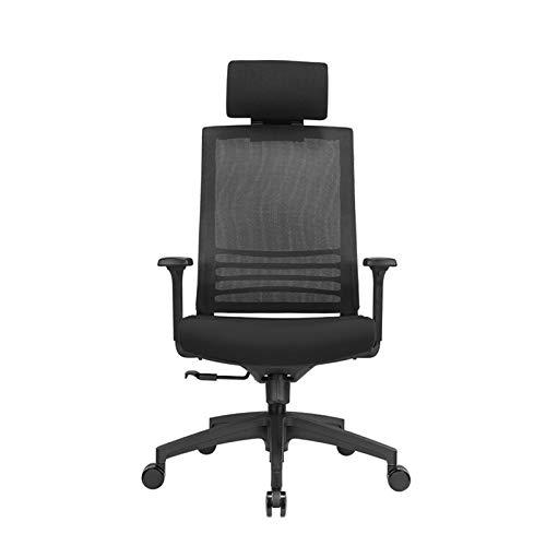 LYLY Silla de oficina, escritorio, oficina, silla de ordenador, silla de estudio, silla giratoria con reposabrazos ajustable para oficina, silla de juegos, silla de escritorio (color negro)