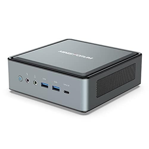 MINIS FORUM HM50 Mini PC, AMD Ryzen 5 4500U Prozessor 16 GB RAM 512GB SSD Mini Desktop mit Windows 10 Pro, Radeon Graphics/BT 5.1/Intel WIFI6 AX200/HDMI-DP-USB-C Anschluss