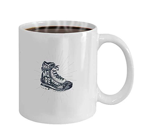 Lsjuee taza de café 11 oz cerámica blanca vintage dibujado a mano...