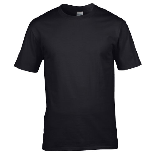 Gildan–T-Shirt 100% Baumwolle–Herren XL schwarz