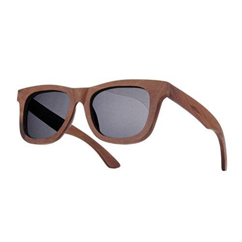 morefaz Gafas de sol unisex de madera polarizadas, estilo vintage, retro, protección UV400