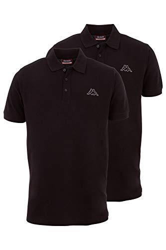 Kappa Herren Polo Shirt VENIST im 2er Pack | Polo-Hemd mit diskretem Logodruck und Kent Kragen | Basic Poloshirts für Männer | Kurzarm Poloshirt für Sport, Freizeit und Büro | Regular Fit | XXXL