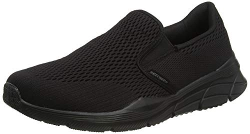 Skechers Herren Equalizer 4.0 Slip On Sneaker, Blau (Black Engineered Mesh/Black Trim BBK), 43 EU