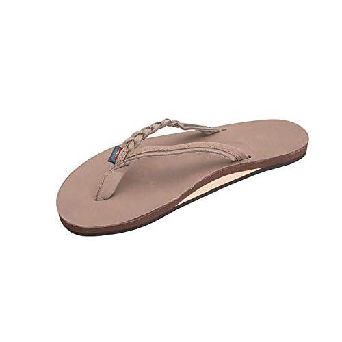 Rainbow Sandals Women's Flirty Braidy Sandals, Color: Dark Brown, Size: X-Large (8.5-9.5)