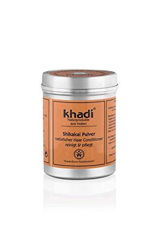 khadi Shikakai Pulver 150g I Ayurvedische Haar-Pflege I Vegane Haarkur aus Indien I Milde Reinigung für jede Kopfhaut I Naturkosmetik ohne künstliche Zusätze