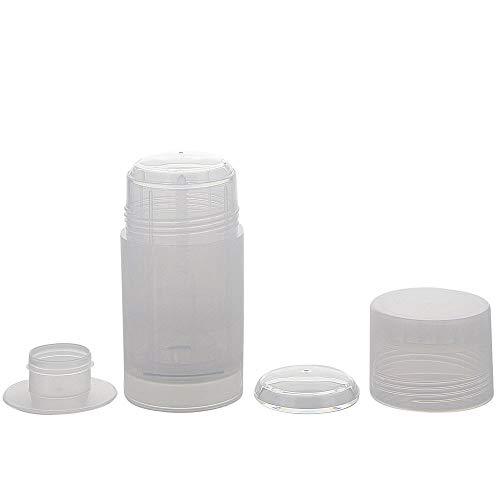 Kosmetex, Deo Stick Flasche 75ml, leer, Kunststoff, nachfüllbar, für selbsthergestellte Deos, tropfsichere Konsistenzen, 10 Stück, 10 Stück