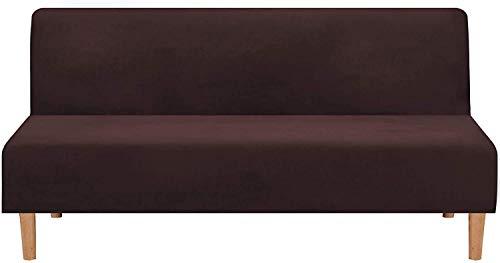 BANNAB Real Velvet Plush 1 Pieza Futon Funda para sofá Cama Funda elástica para sofá Funda para sofá sin Brazos Protector de Muebles con Forma de Base elástica y Antideslizante Lavable (Gris)
